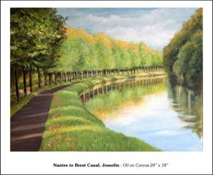 "Nantes to Brest Canal - 24"" x 18"""
