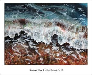 "Breaking Wave 3 - 24"" x 18"""