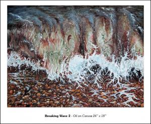 "Breaking Wave 2 - 24"" x 18"""